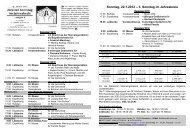2. Sonntag im Jahreskreis - Pastoralverbund - Lübbecker Land