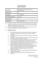 Degree, Diploma and Certificate Parchment Replacement Policy
