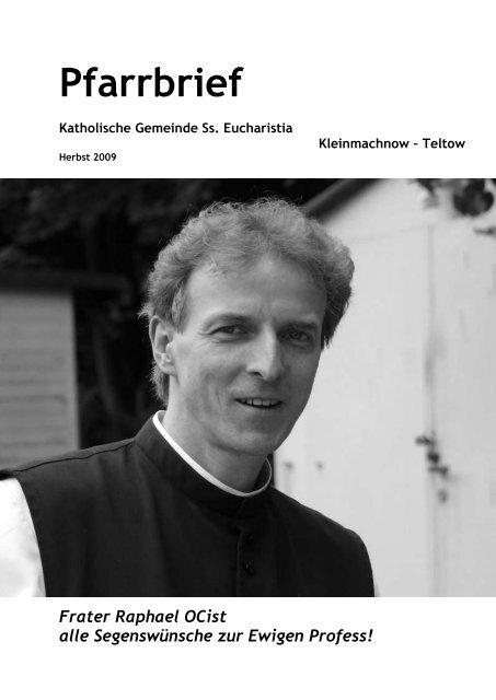 Pfarrbrief Herbst 2009 - Katholische Pfarrgemeinde Sanctissima ...