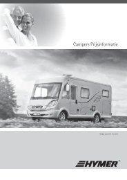 Campers Prijsinformatie
