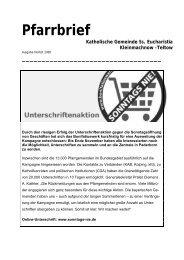 Pfarrbrief Herbst 2006 - Katholische Pfarrgemeinde Sanctissima ...