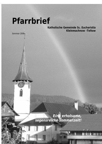 Pfarrbrief Sommer 2008 - Katholische Pfarrgemeinde Sanctissima ...