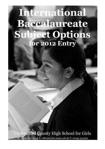 International Baccalaureate - Chelmsford County High School for Girls