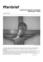 Pfarrbrief Ostern 2005 - Katholische Pfarrgemeinde Sanctissima ...