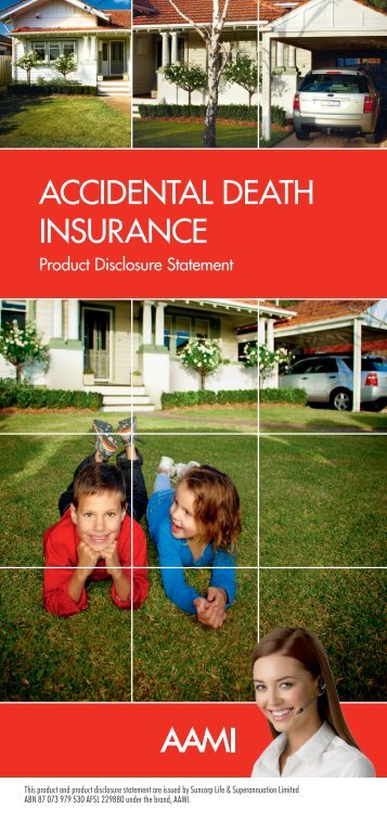ACCIDENTAL DEATH INSURANCE - AAMI