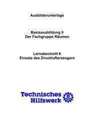 Einsatz des Drucklufterzeugers - THW Ortsverband Eschweiler