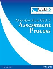 Overview of the CELF-5 Assessment Process - Speech and Language