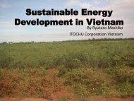 Sustainable Energy Development in Vietnam