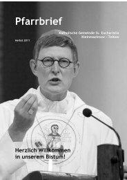 Pfarrbrief Herbst 2011 - Katholische Pfarrgemeinde Sanctissima ...