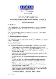 LEADR 05/04 1 ADMINISTRATIVE PANEL DECISION ... - auDA