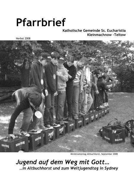 Pfarrbrief Herbst 2008 - Katholische Pfarrgemeinde Sanctissima ...