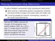 Reducing Uncertainties in Climate-Carbon Cycle Feedbacks