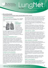 Bronchiectasis - Lung Foundation