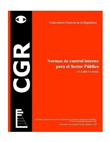 Normas Control Interno Sector Publico.pdf - Archivo Nacional de ...