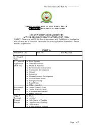 28th Graduands' List - Moi University