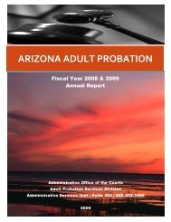 ARIZONA ADULT PROBATION - Arizona Judicial Department