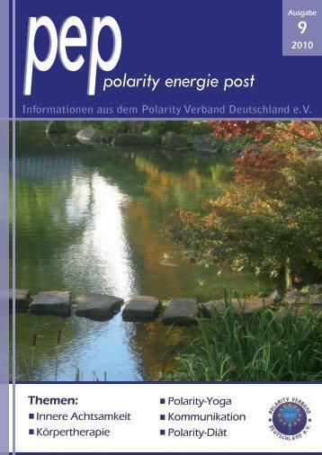 PEP Jubiläumsausgabe - Polarity Institut Frankfurt