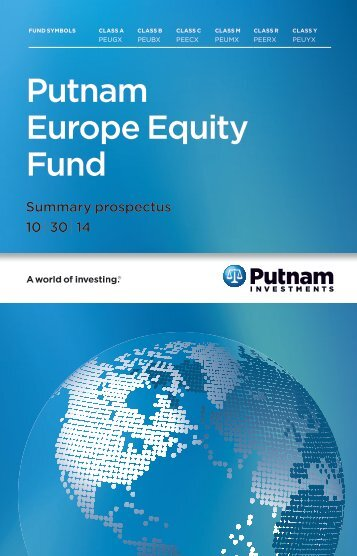 Europe Equity Fund Summary Prospectus - Putnam Investments