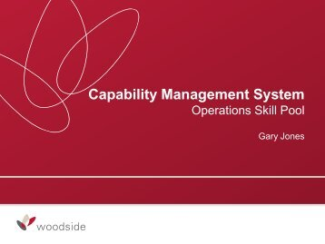 Woodside Capability Management System - Offshore ... - DrillSafe