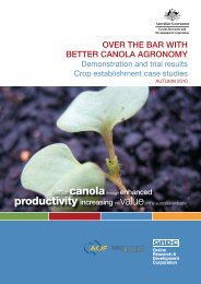 Over the bar with better canola agronomy - NVT Online