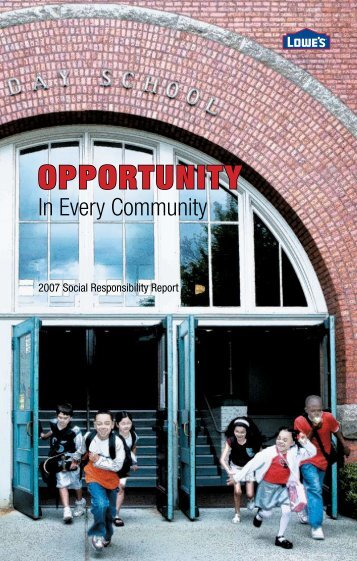 OppOrtunity - Social Responsibility - Lowe's