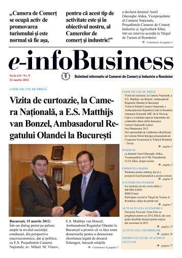 e-infoBusiness nr. 9/22.03.2012 - Camera de Comert si Industrie a ...