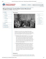 Margaret Sanger and the Birth Control Movement