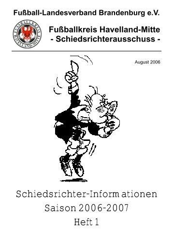 Heft1 - Schiedsrichter Havelland-Mitte