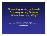 Screening for Asymptomatic Coronary Artery Disease ... - Riacc.org