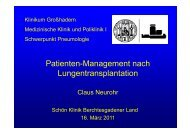 Management danach - Lungeninformationsdienst