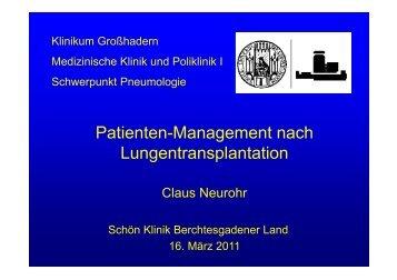 Management danach - Lungeninformationsdienst