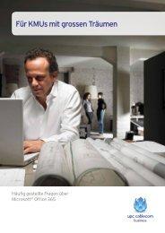 Für KMUs mit grossen Träumen - upc cablecom business