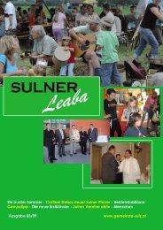 Gemeindezeitung 3/09 - Gemeinde Sulz