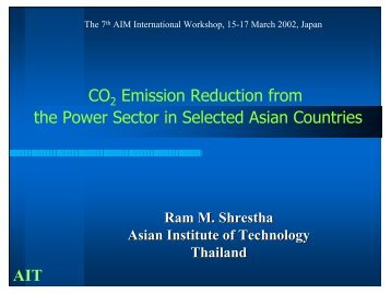 CO2 Emission Reduction from the Power Sector in Selected Asian ...