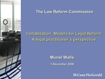 a legal practitioner's perspective Muriel Walls Partner, McCann ...
