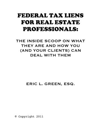 federal tax liens for real estate professionals - Convicer Percy ...