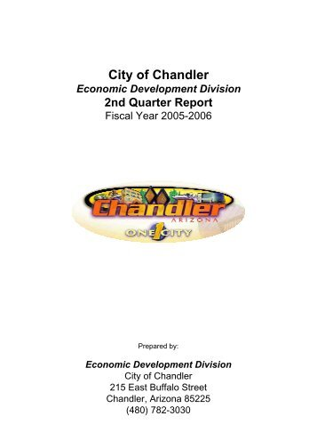 2nd Quarter Report - City of Chandler