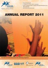 ANNUAL REPORT 2011 - Friends International