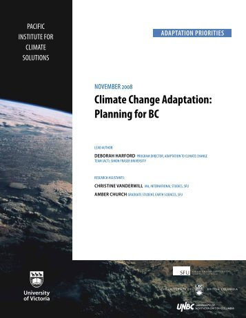 Climate Change Adaptation: Planning for BC (Nov. 2008)