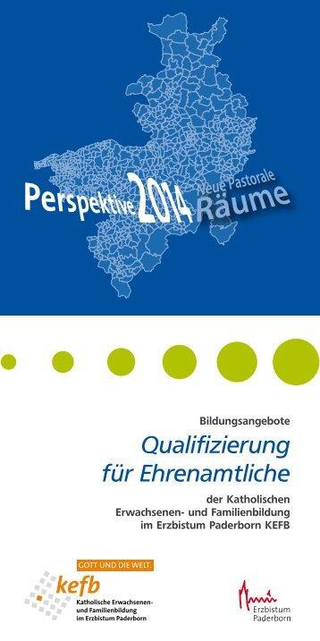 Bildungsangebote Qualifizierung für Ehrenamtliche - Pastorale ...