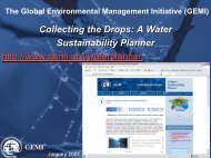 Collecting the Drops: A Water Sustainability Planner http://www.gemi ...