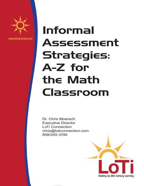 Informal Assessment Strategies: A-Z for the Math Classroom