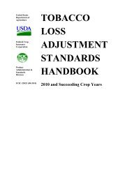 United States - RMA USDA Risk Management Agency