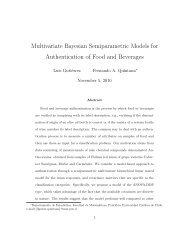 Multivariate Bayesian Semiparametric Models for Authentication of ...