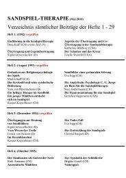 SANDSPIEL-THERAPIE(Mai 2010) Verzeichnis sämtlicher Beiträge ...