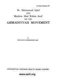 Dr. Muhammad Iqbal and Maulana Abul Kalam Azad on the ...
