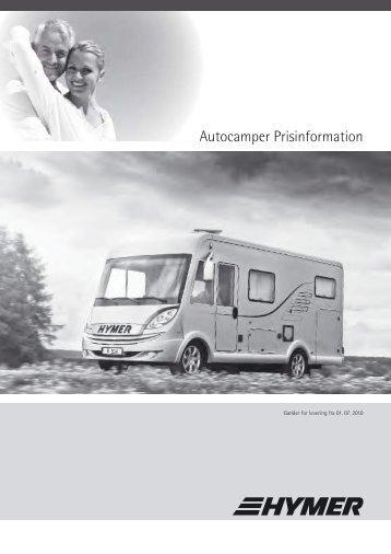 Autocamper Prisinformation A