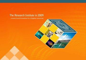 Annual Report 2009 - Research Institute