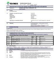 sikkerhedsdatablad teknofloor aqua hardener 110h - Teknos