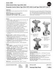 Samson 3241 Series Control Valve - Condit Company